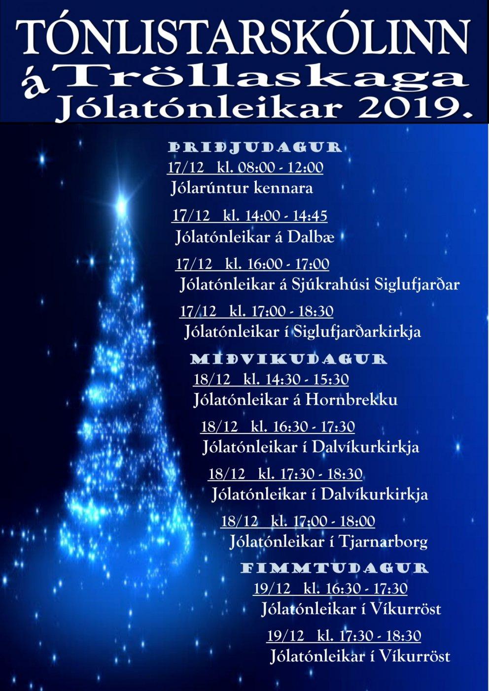 Jólatónleikar TÁT 2019.